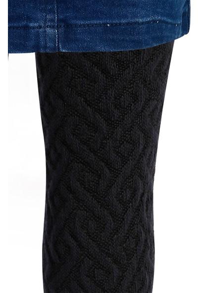 Bella Calze Kız Çocuk Triko Külotlu Çorap 2-11 Yaş Lacivert