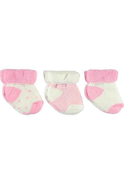 Civil Baby Kız Bebek Havlu 3'lü Çorap 0-24 Ay Pembe