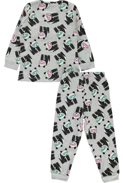 Civil Girls Kız Çocuk Pijama Takımı 2-5 Yaş Gri