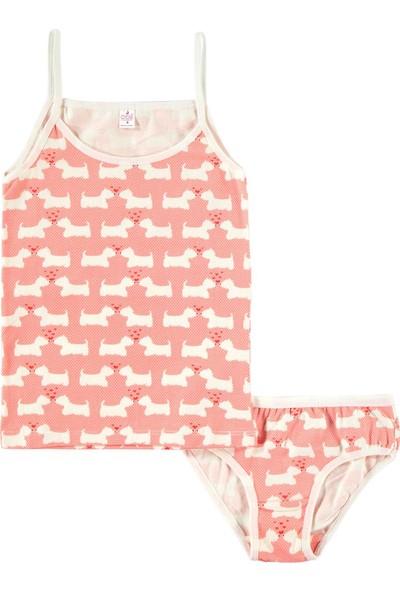 Öts Kız Çocuk İç Çamaşır Takımı 2-10 Yaş Yavruağzı
