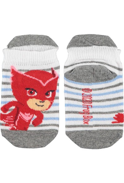 Pijamaskeli Erkek Çocuk Çorap 3-9 Yaş Gri