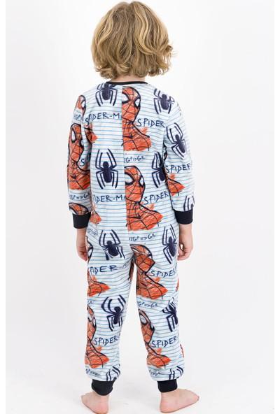 Spider-man Lisanslı Kırmızı Erkek Çocuk Polar Tulum