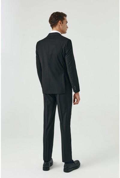 D's Damat Slim Fit Erkek Yelekli Takım Elbise