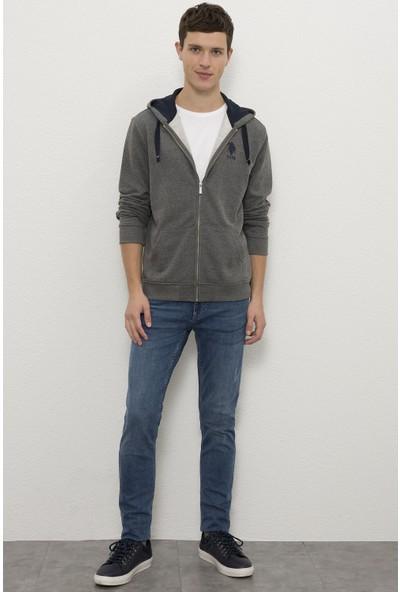 U.S. Polo Assn. Erkek Gri Sweatshirt 50225491-VR081