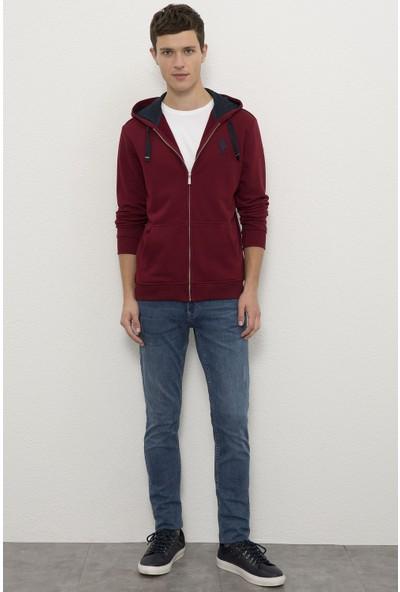 U.S. Polo Assn. Erkek Kırmızı Sweatshirt 50225491-VR014