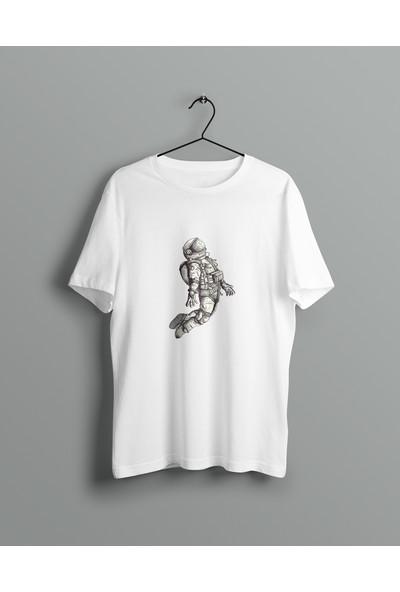 Şimşek Erkek Baskılı Pamuklu Tişört