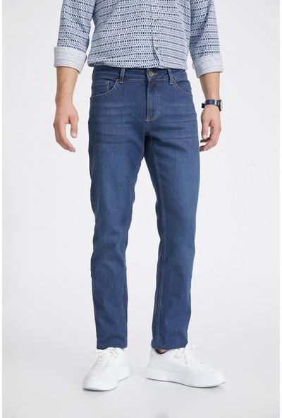 Avva Erkek Mavi Regular Fit Jean Pantolon E003511