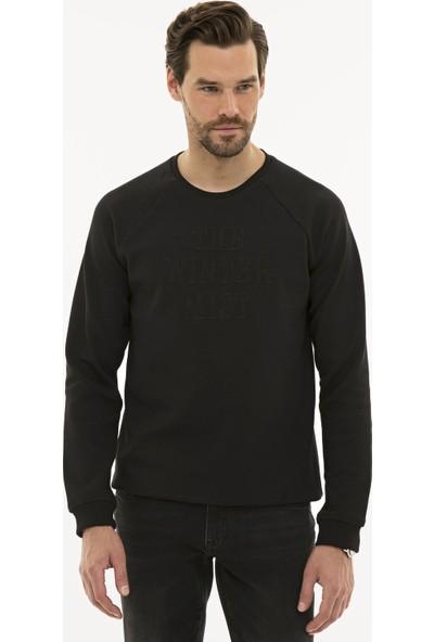Pierre Cardin Erkek Siyah Regular Fit Sweatshirt 50228423-VR046