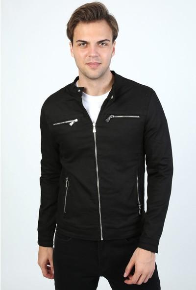 Little Cup Jeans Co Mevsimlik Fermuar Detay Astarlı Premium Erkek Siay Ceket Mont