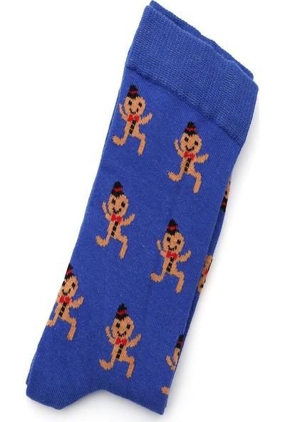 Ciorap 5'li Erkek Yılbaşı Temalı Asortili Çorap 4480D-B5