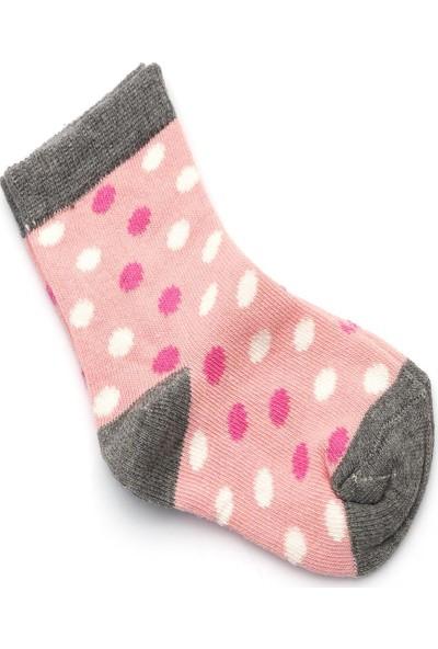 Ciorap 5'li Kız Çocuk Yıldız, Çember ve Kalpli Desenli Asortili Çorap 2470C-B5