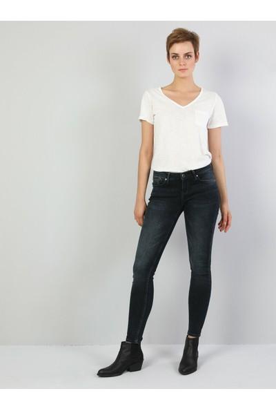 Colins 757 Sally Super Slim Fit Super Düşük Bel Skinny Leg Kadın Koyu İndigo Jean Pantolon