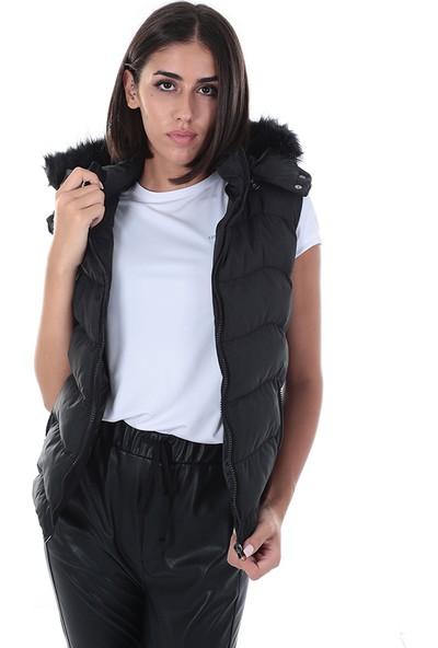 Brendon Kadın Kapüşonlu Şişme Yelek 206 Siyah/Black 20W53000206