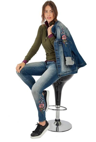 Galvanni Kadın Mavi Jeans