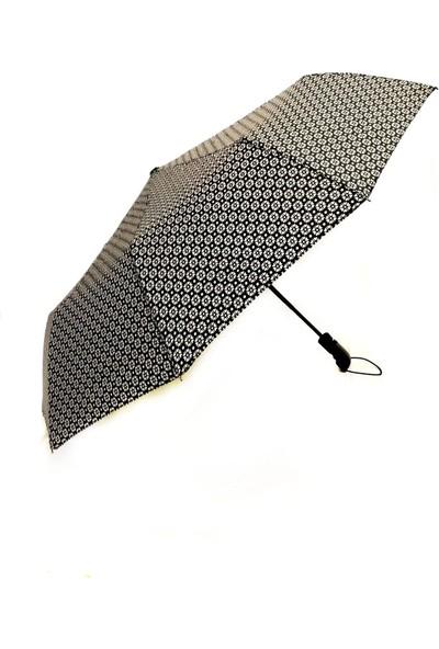 İstoc Trend Tam Otomatik Açılır Kapanır Rüzgarda Kırılmayan Şemsiye, 10 Telli, Füme
