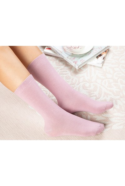 English Home Lucky Pamuk Kadın Çorap Standart Pembe
