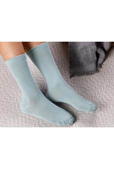 English Home Lucky Pamuk Kadın Çorap Standart Yeşil