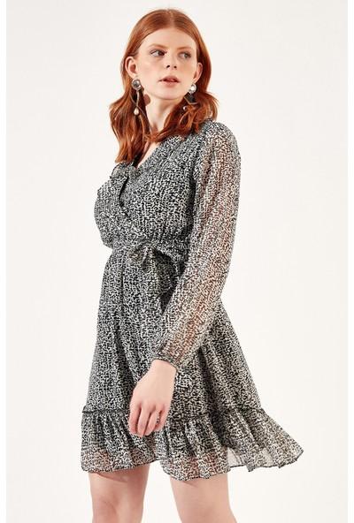 Manche Siyah-Beyaz Kadın Elbise | MK20S282823