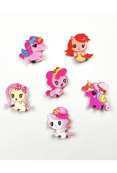 Kız Çocuk Bebek Pony 6'lı Klipsli Toka Seti
