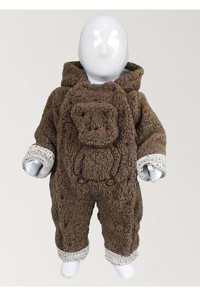 Bbx Puantiye Detaylı Kapüşonlu Bebek Welsoft Dış Tulum