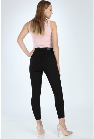 Yenikoza E952 Kadın Jean Pantolon Siyah