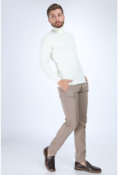 Trender 9720 7 No Fitilli Balıkçı Erkek Kazak Ekru