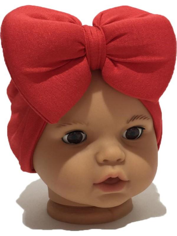 Özlem Bebe Düz Kırmızı Bebek Bone