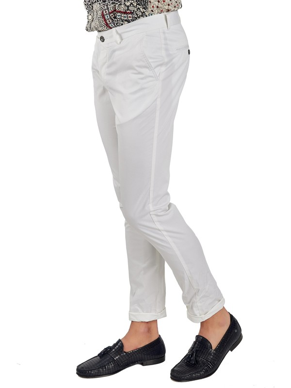 Galvanni Erkek Beyaz Pantolon