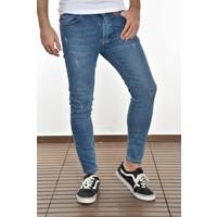 Lose Jeans Erkek Canlı Mavi Skinny Fit Likralı Bilek Boy Pantolon