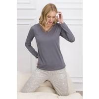 Pierre Cardin Koyu Gri Kadın Pijama Takımı