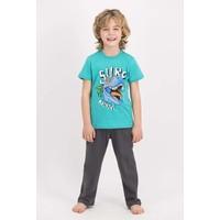 Rolypoly Erkek Çocuk Kısa Kollu Pijama Takımı Mint
