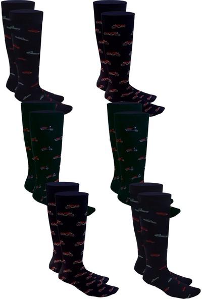 Pictor Gift Erkek 6 Çift Desenli Pamuklu Likralı Soket Çorap