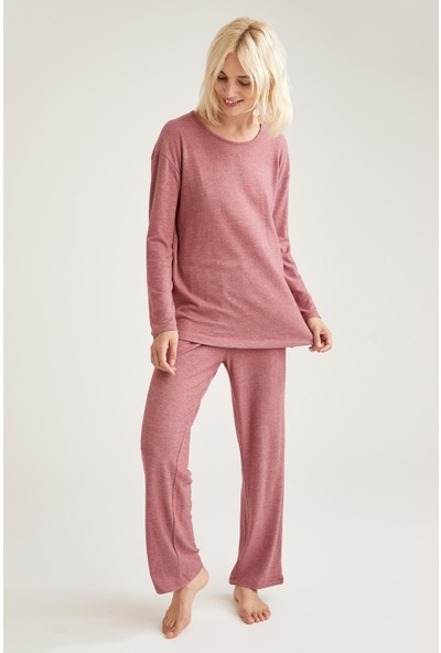 Defacto Kadın Basic Relax Fit Pijama Takımı