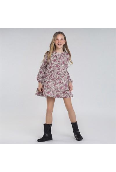 Mayoral Kız Çocuk Baskılı Elbise