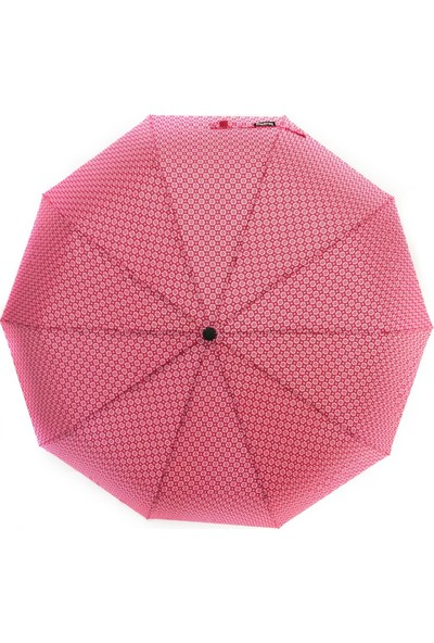 İstoç Toptan Tam Otomatik Açılır Kapanır Rüzgarda Kırılmayan Şemsiye, 10 Telli,kırmızı
