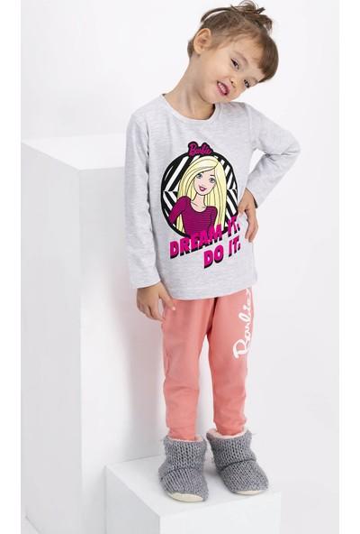 Barbie Lisanslı Kız Çocuk Pijama Takımı Karamelanj