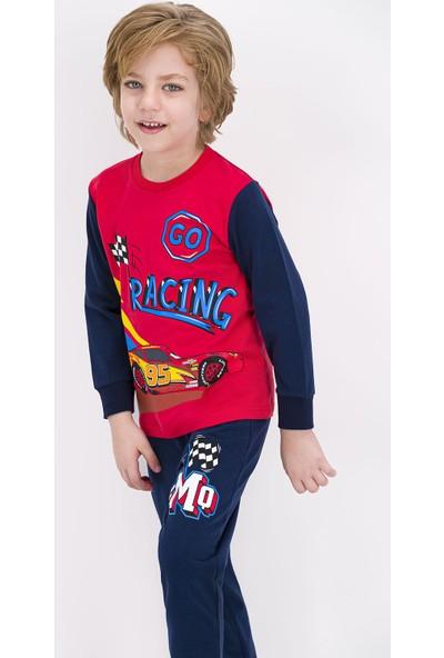 Cars Lisanslı Açık Kırmızı Erkek Çocuk Pijama Takımı