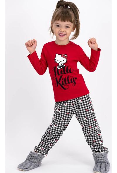 Hello Kitty Lisanslı Kırmızıkız Çocuk Uzun Kollulu Pijama Takımı