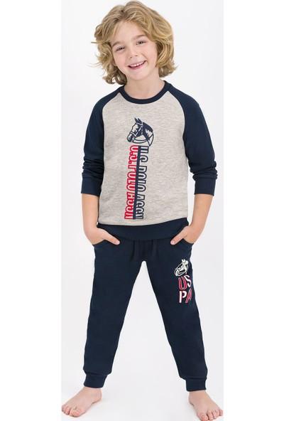 U.S. Polo Assn. Lisanslı Bejmelanj Erkek Çocuk Eşofman Takımı