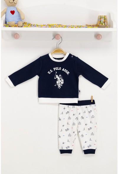 U.S. Polo Assn. Lisanslı Lacivert Bebek Takım