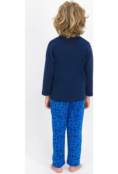 U.S. Polo Assn. Lisanslı Lacivert Erkek Çocuk Pijama Takımı
