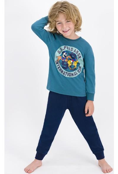 U.S. Polo Assn. Lisanslı Petrol Erkek Çocuk Pijama Takımı