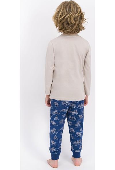 U.S. Polo Assn. Lisanslı Taş Erkek Çocuk Pijama Takımı