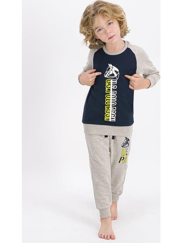U.S. Polo Assn. Lisanslı Lacivert Erkek Çocuk Eşofman Takımı