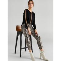 Faik Sönmez Kadın Yılan Desenli 5 Cep Slim Fit Pantolon 61519