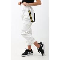 Enisena Beyaz Kız Cocuk Jogger Gabardin Pantolon