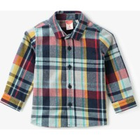 Koton Kids Erkek Çocuk Klasik Yaka Kareli Uzun Kollu Gömlek