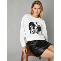 Koton Kadın Snoopy Lisansli Sweatshirt