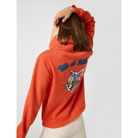 Koton Kadın Warner Bros Lisanslı Tom & Jerry Baskılı Kapüşonlu Sweatshirt