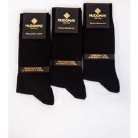Mudomay 6'lı Bambu Yün Kışlık Siyah Erkek Çorap